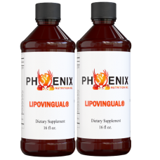 LIPOVINGUAL® - 2-16oz Bottles - Original Orange Punch
